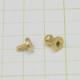 真鍮 生地 ギボシ 小サイズ ネジ式 マイナス 金具 パーツ 金色 古美金 留め具 ボタン レザークラフト