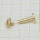 真鍮 生地 組ネジ Lサイズ シカゴスクリュー 螺子 ネジ式 マイナス 金具 パーツ 金色 古美金