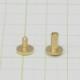 真鍮 生地 組ネジ Sサイズ シカゴスクリュー 螺子 ネジ式 マイナス 金具 パーツ 金色 古美金