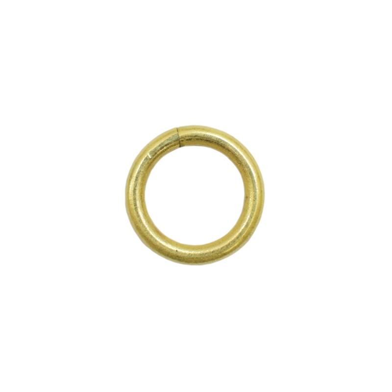 真鍮 丸カン 内径10mm キーホルダーパーツ brass 生地 レザークラフト 金具 パーツ 金色 古美金