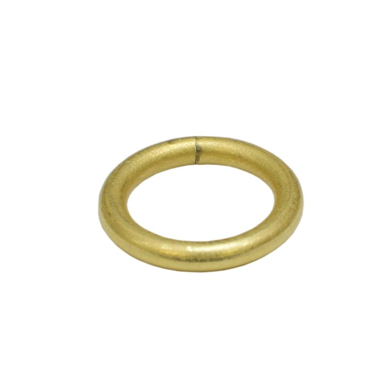 真鍮 丸カン 内径15mm キーホルダーパーツ brass 生地 レザークラフト 金具 パーツ 金色 古美金
