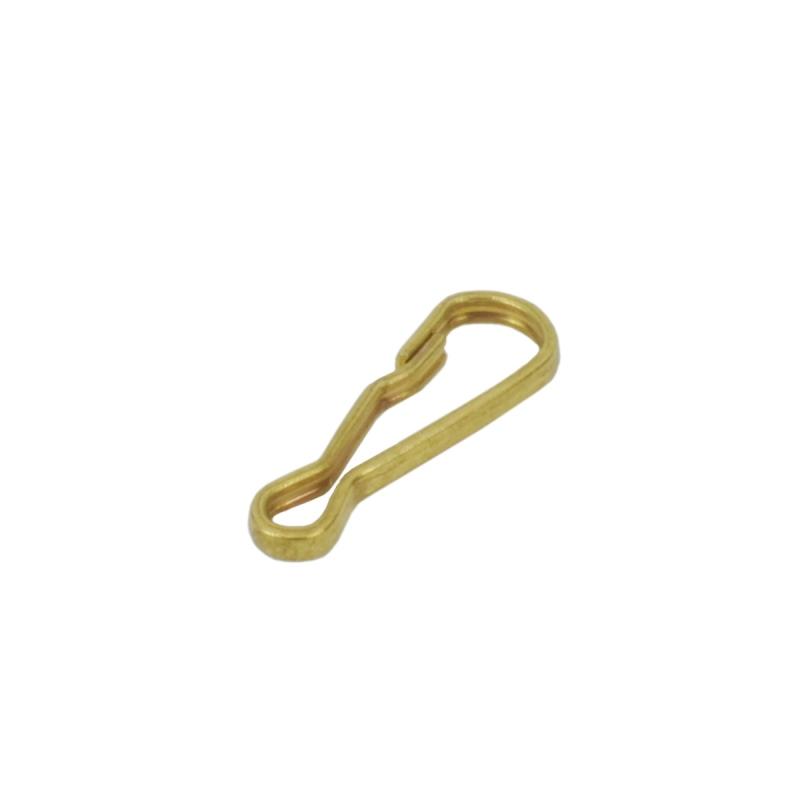 真鍮 キーナス キーホルダーパーツ brass 生地 レザークラフト 金具 パーツ 金色 古美金 ナスカン