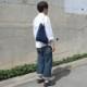 インディゴ コットン リネン レザー キャンバス A4 トートバッグ 綿 麻 帆布 ヌメ革 ハンドル ギフト ナチュラル