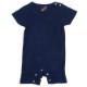 ベビー 藍染め 半袖 ロンパース つなぎ 出産祝い 子供服 コットン 綿 濃紺 ネイビー ギフト プレゼント