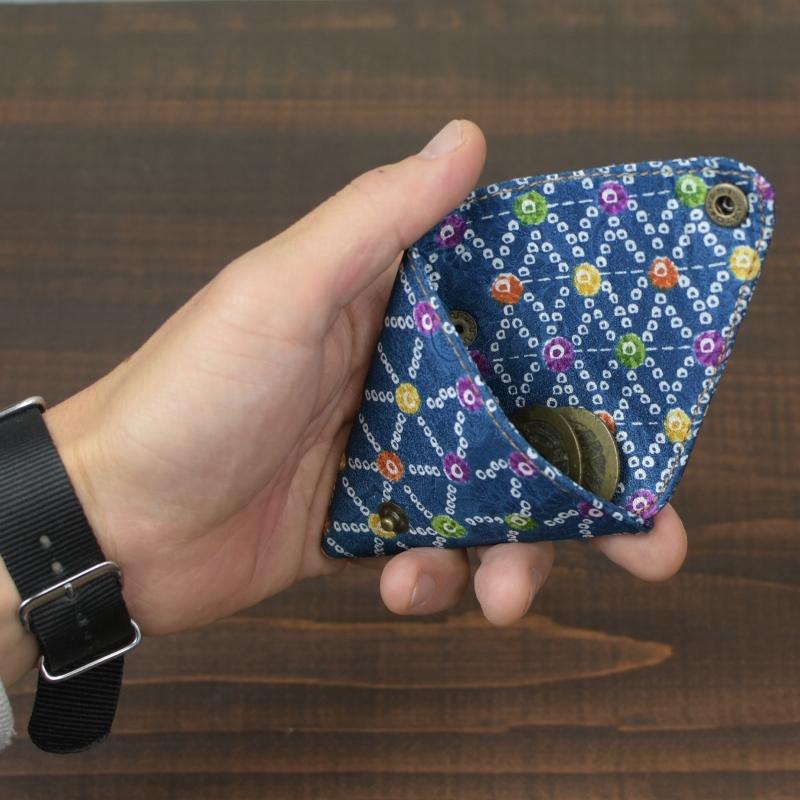 三角 着物 小銭入れ コインケース 和柄 花柄 可愛い お土産 プレゼント ギフト レトロ