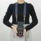 ヴィンテージ  カメラストラップ ヌメ革 コットン 綿 ベルト 3サイズ 名入れ 刻印付 セミオーダー オーダーメイド プレゼント ギフト