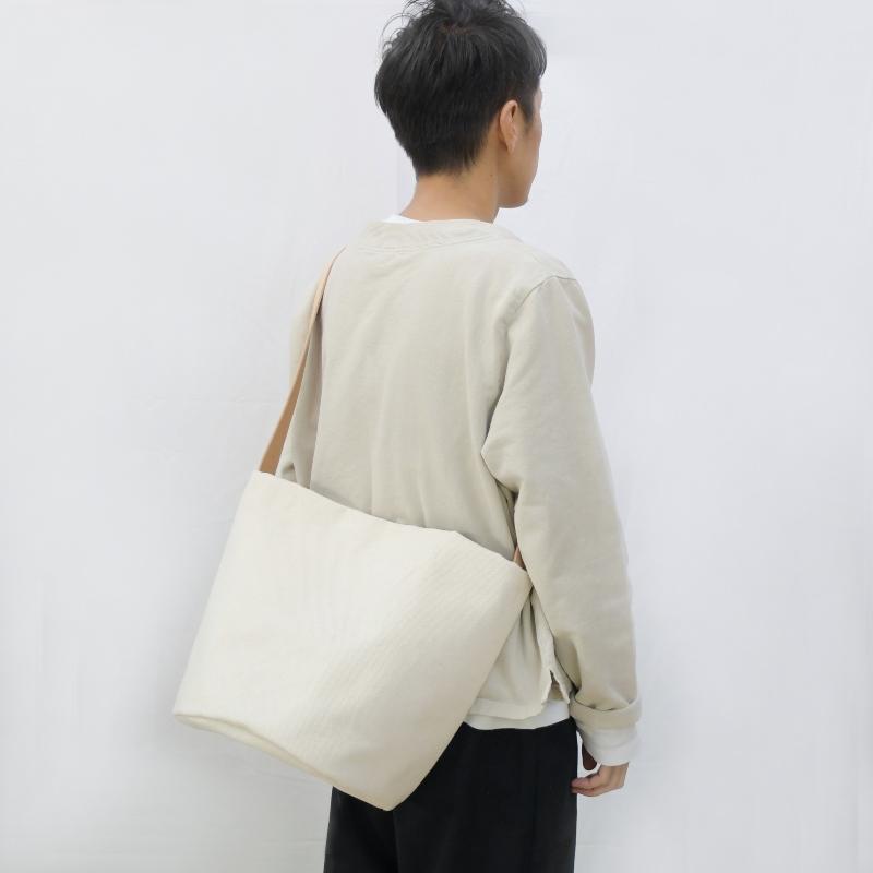 1号帆布 バケット 2WAY 鞄 ショルダーバッグ トートバッグ  円柱 canvas キャンバス 極厚 ヌメ革 シンプル 綿 コットン 名入れ 刻印