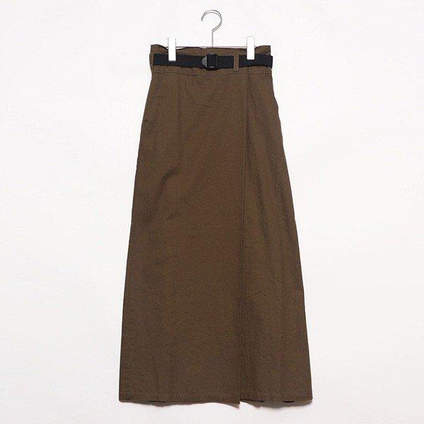 ツイルベルト付きタックロングスカート