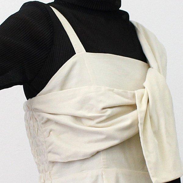 コーデュロイフロントツイストジャンパースカート