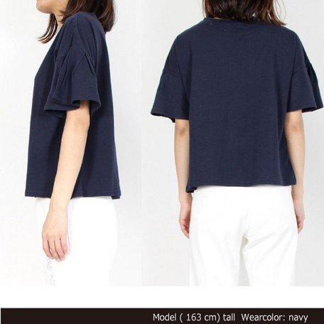 フレア袖Tシャツ