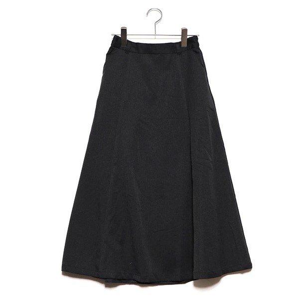 ツイルバックボタンフレアスカート