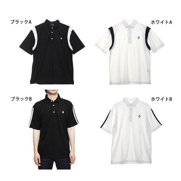 ドライMIXスラブカノコライン入り3Bポロシャツ