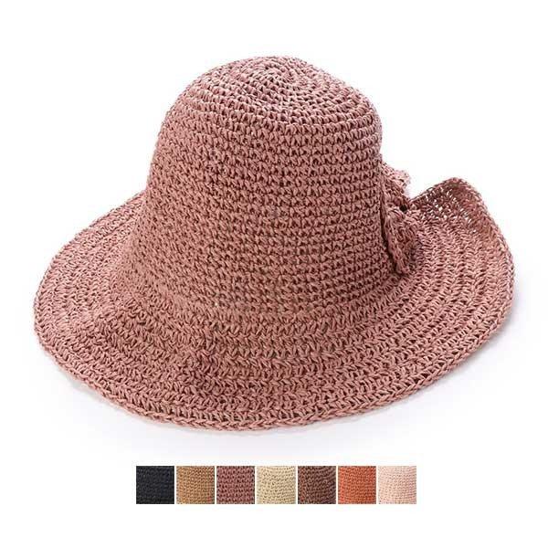 つば広麦わら帽子