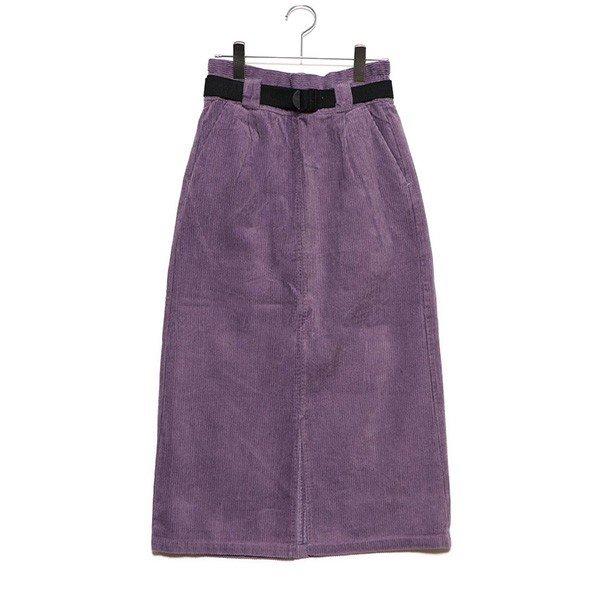 コーデュロイベルト付きタイトスカート
