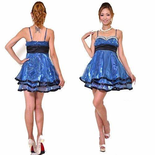 カラフルオーガンジーミニドレス