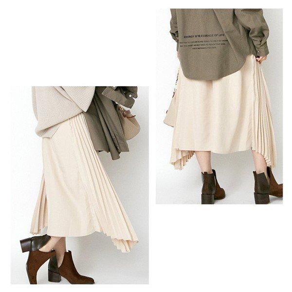プリーツミックストレンチスカート