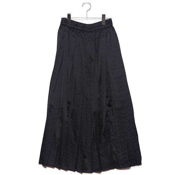 ヴィンテージサテンプリーツ切替スカート