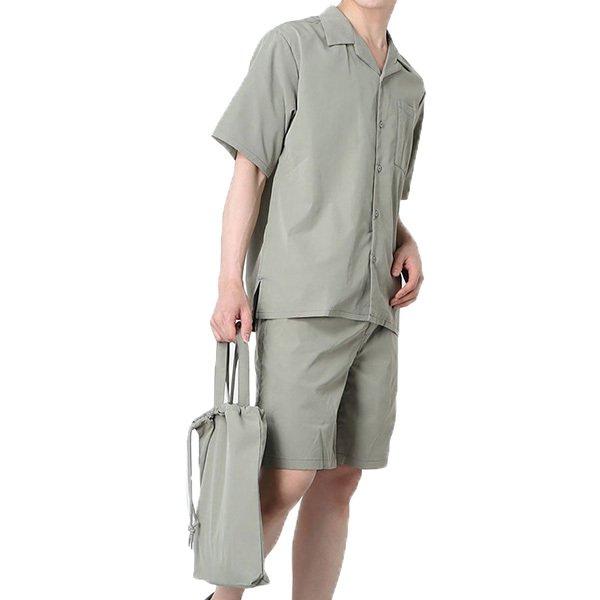 収納バッグ付き半袖セットアップ