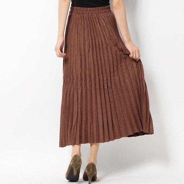 フェイクスエードプリーツスカート