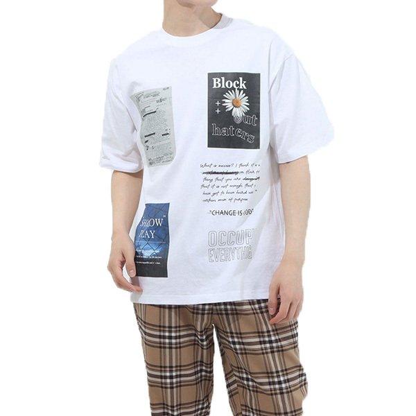 フォトデコレーションプリントビッグTシャツ
