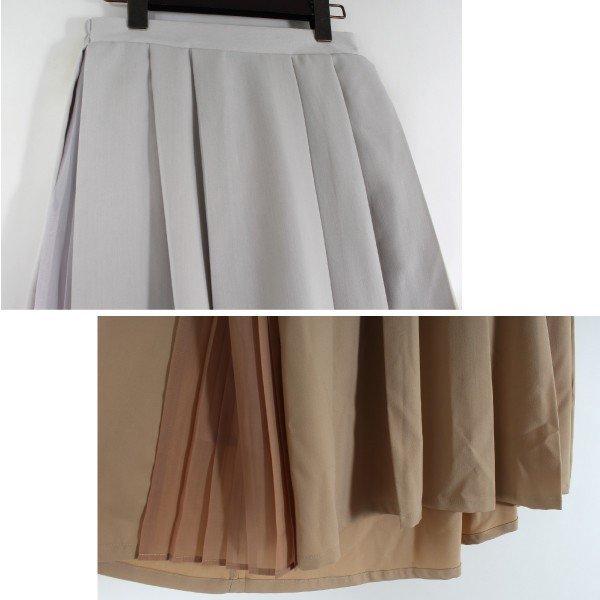 ツイルプリーツ切替スカート