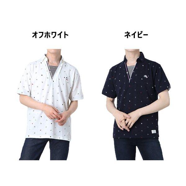 カノコ総柄プリントポロシャツ