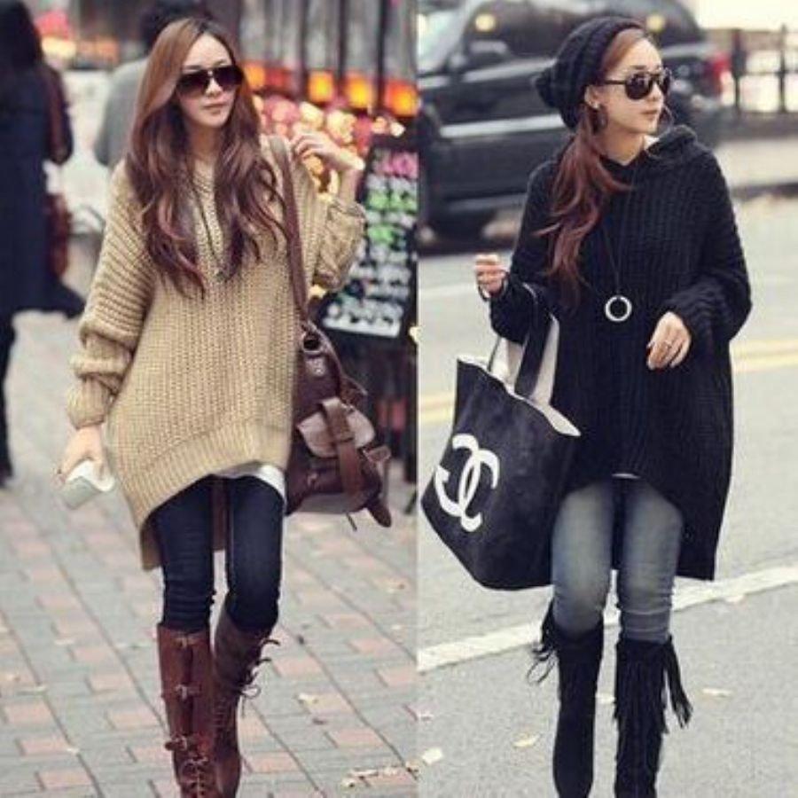 フード付きオーバーサイズセーター