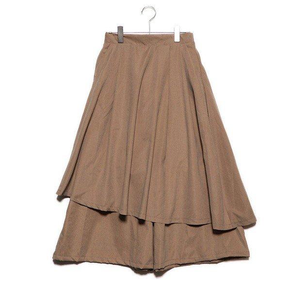 スカートレイヤードワイドパンツ