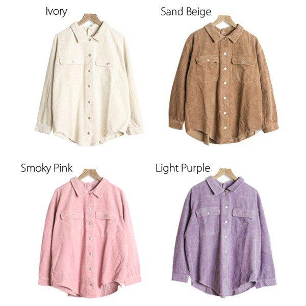 プリントパッチ付きオーバーサイズシャツ