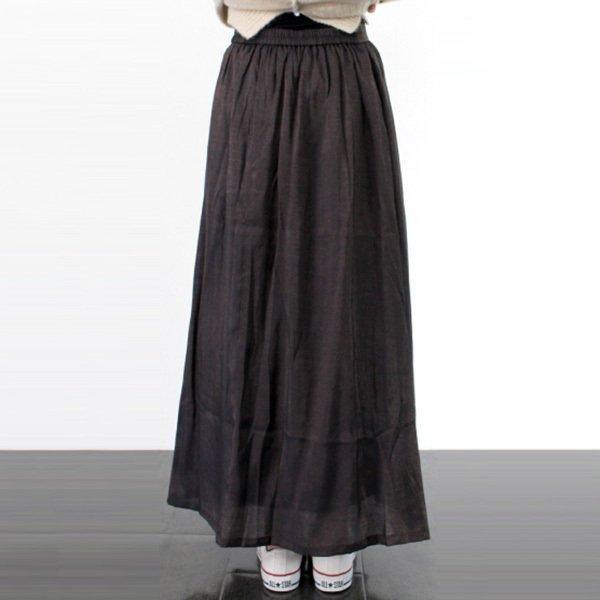 シャイニーポプリンギャザーフレアスカート