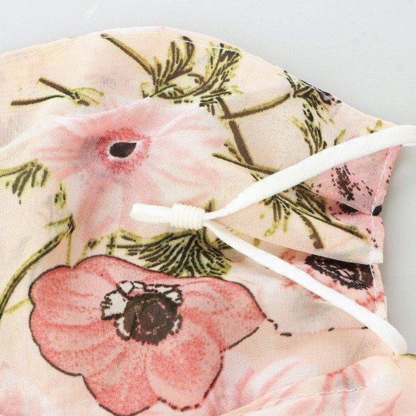 花柄マスクスカーフ