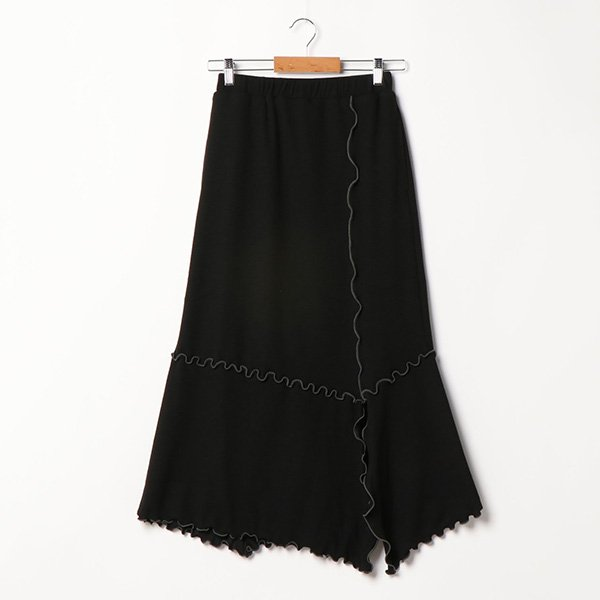 変形リブメローロングスカート