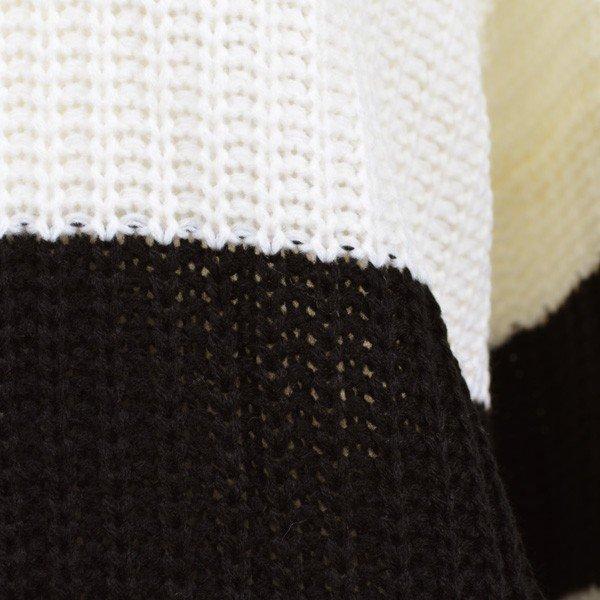 ドルマンスリーブボーダーニットセーター
