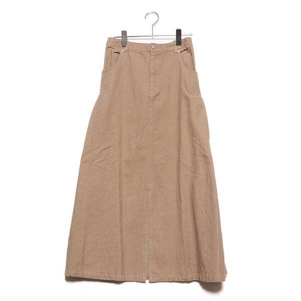 起毛カツラギサイドタックロングスカート