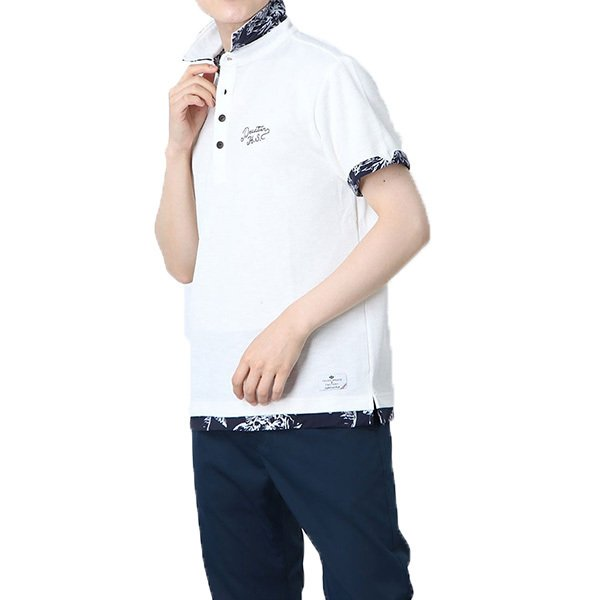 スラブカノコフェイクレイヤードポロシャツ