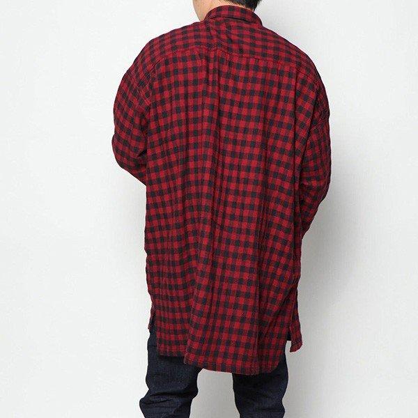 先染めチェックビッグシャツ