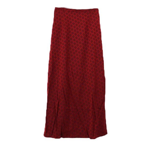 ジャガード小紋柄ストレートマキシスカート