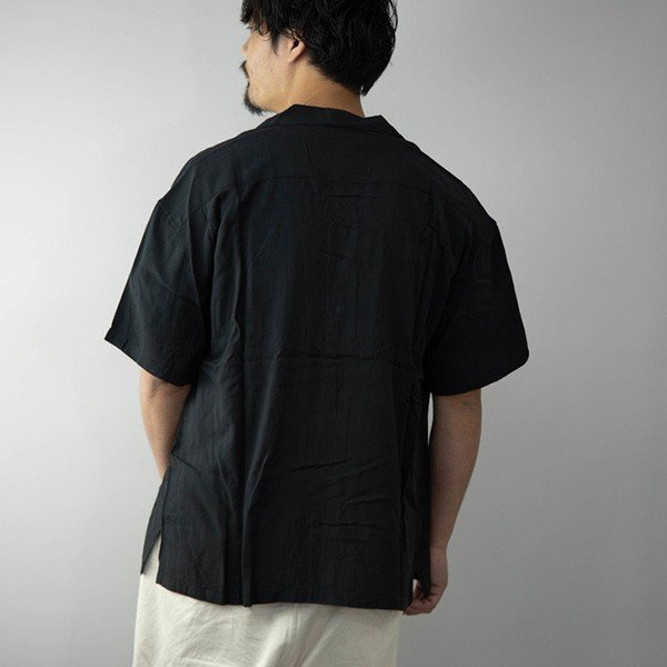 レーヨンビッグオープンシャツ