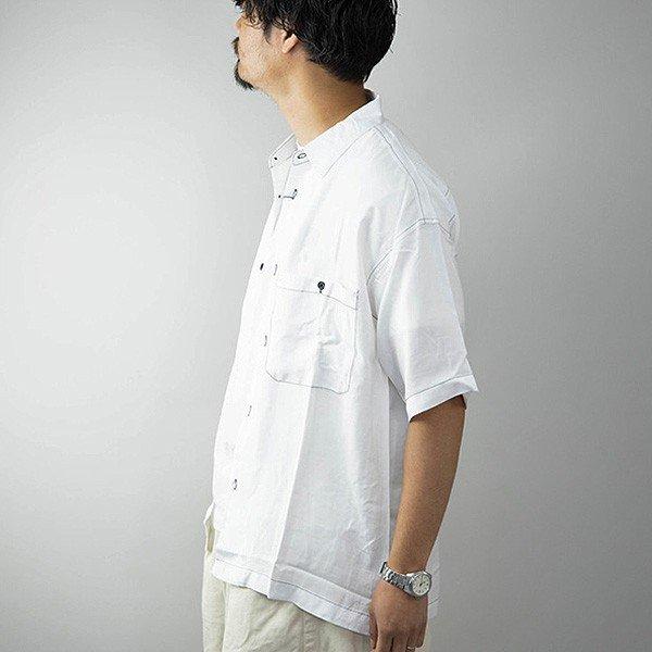 レーヨンビッグ配色ステッチワークシャツ