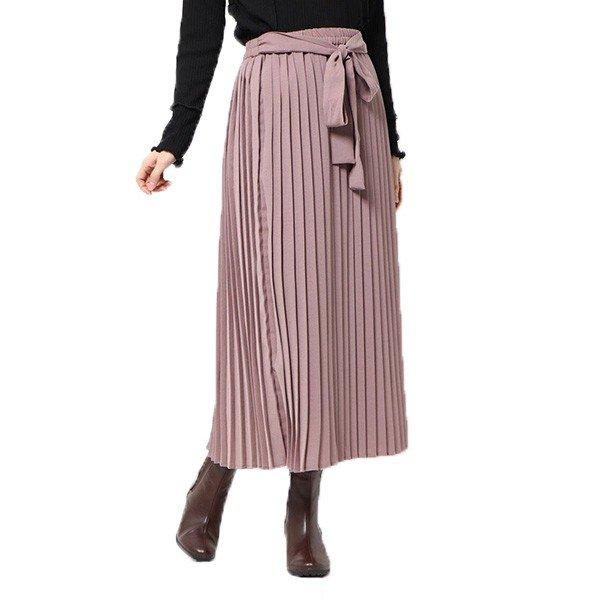 トロピカルリボン付きプリーツスカート