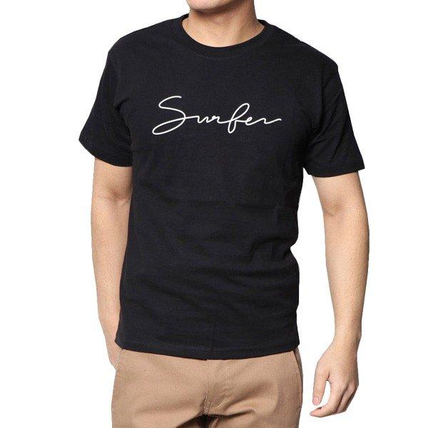 筆記ロゴプリントクルーネック半袖Tシャツ