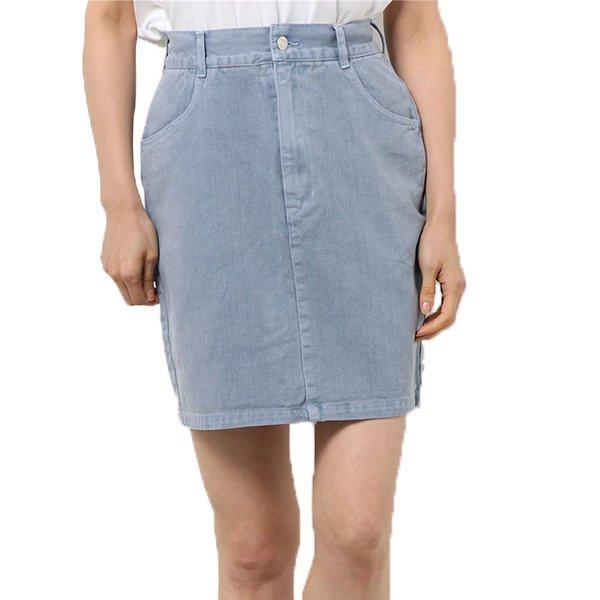 デニムピグメント加工ミニスカート