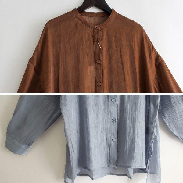シャイニーポプリンビッグシャツ