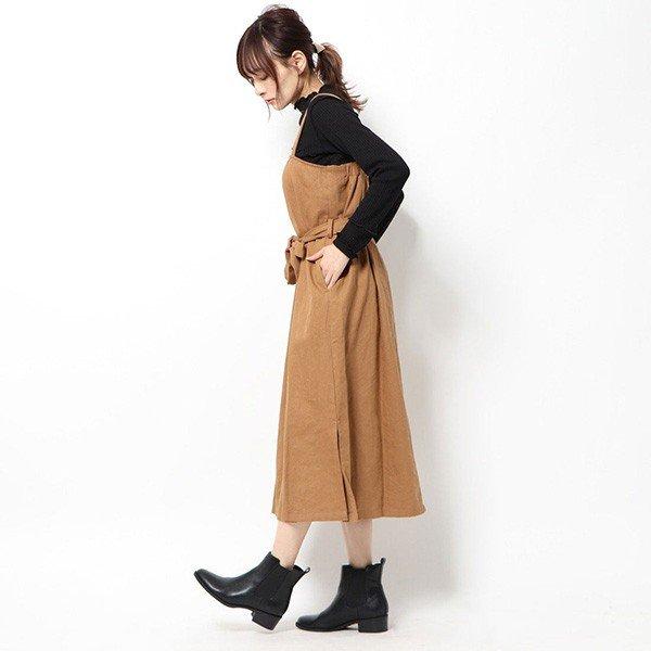 カツラギウエストリボンワンショルジャンパースカート