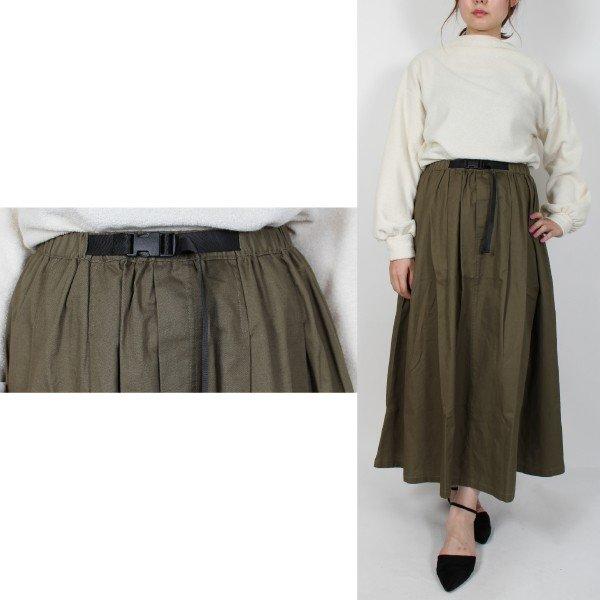 綿ツイルテープベルトスカート