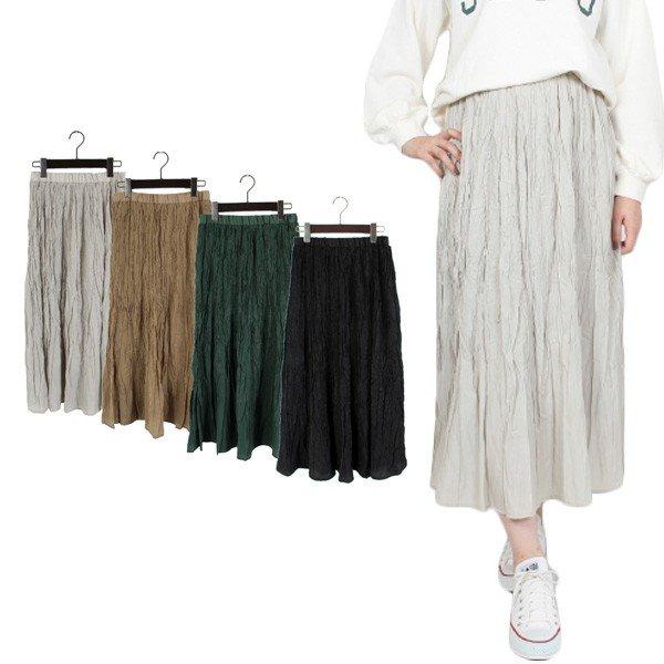 シアーツイルランダムプリーツスカート