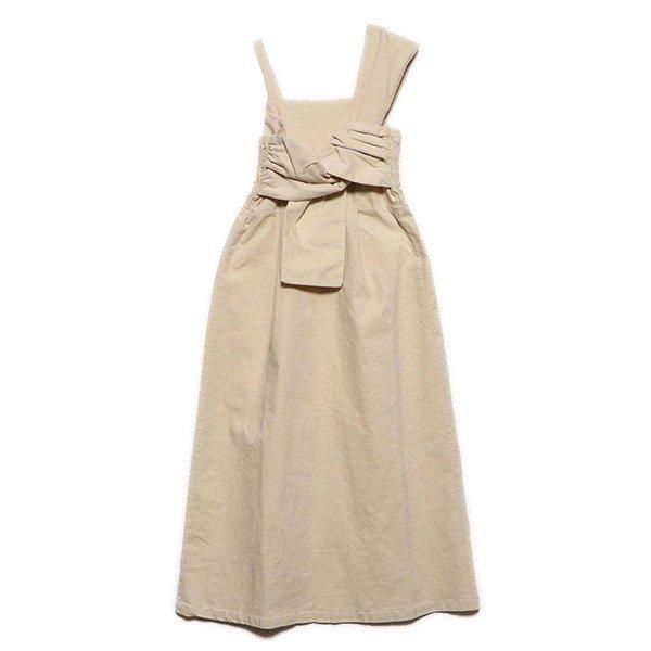 リブレスコールフロントツイストジャンパースカート