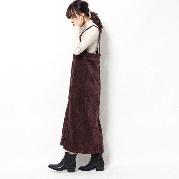 リブレスコールジャンパースカート