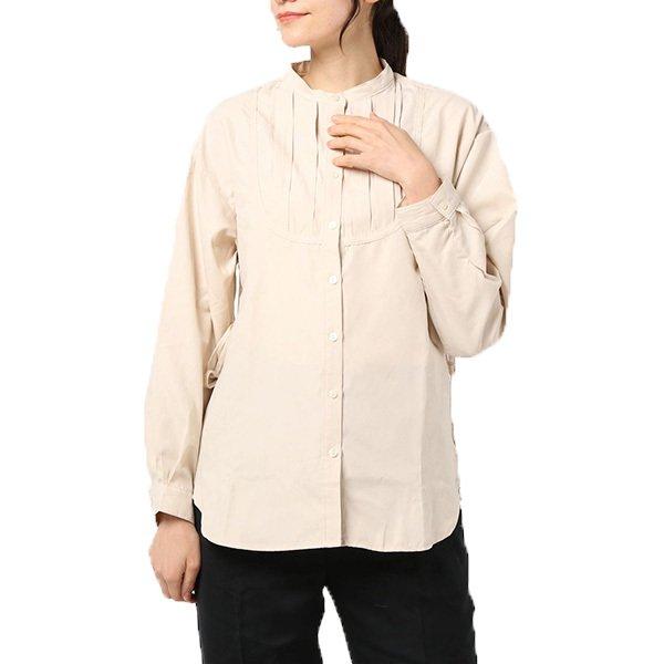 スタンドカラータックブザムシャツ