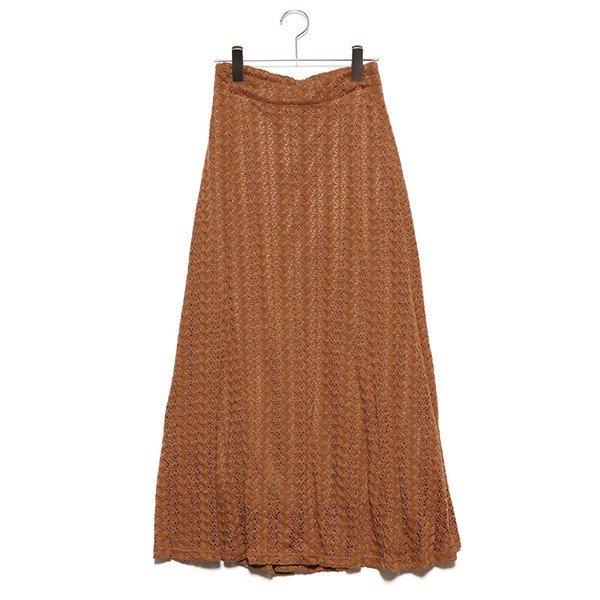 模様編みマーメイドスカート